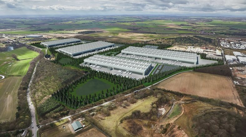 Computer Generated Image depicts Mulberry Logistics Park Doncaster